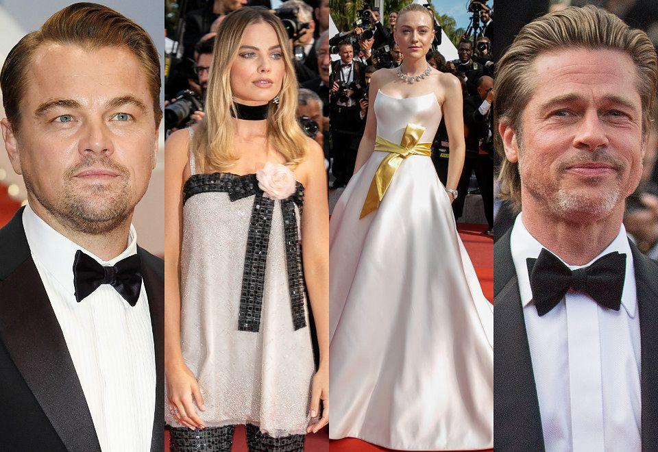 2Leonardo DiCaprio, Margot Robbie, Dakota Fanning i Brad Pitt