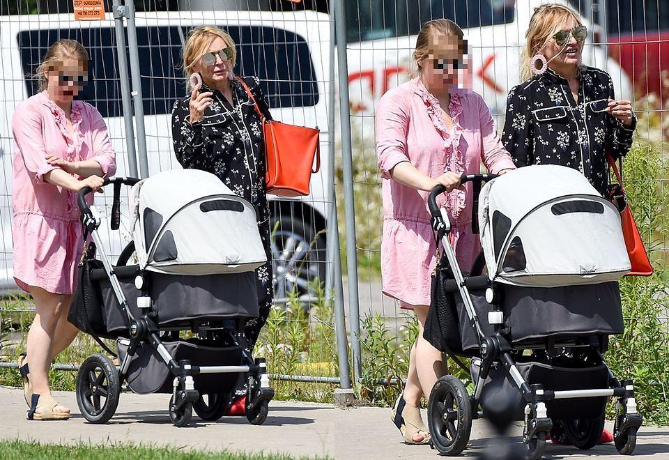 2Monika Olejnik prosto z łóżka poszła na obiad z synową i wnuczką