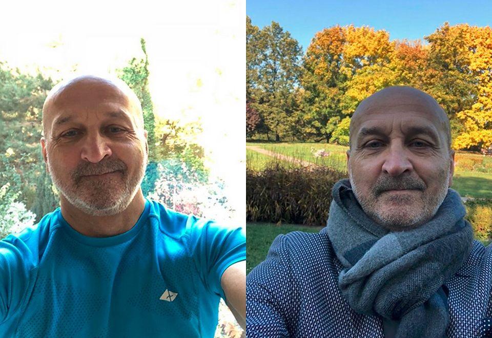 2Kazimierz Marcinkiewicz o poranku biega z grymasem na twarzy po parku