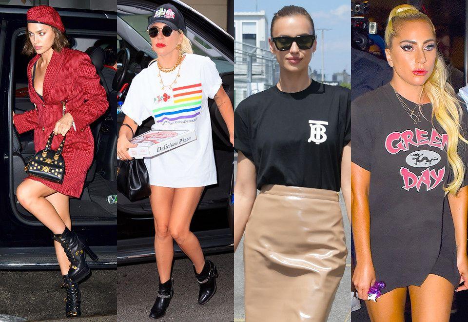 2Porównanie stylizacji gwiazd: Irina Shayk vs Lady Gaga