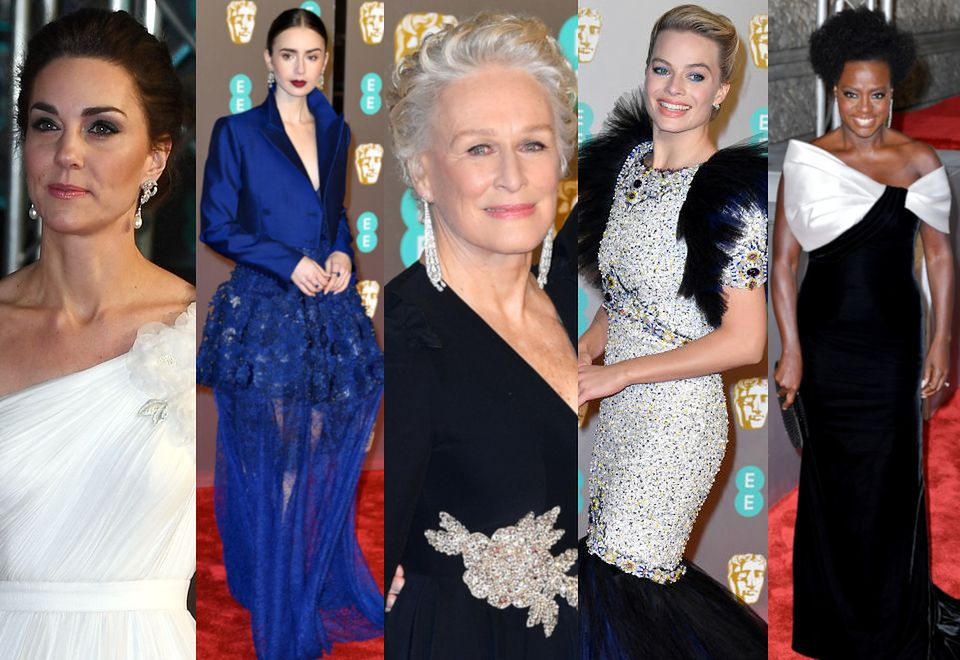 2BAFTA 2019: anielska księżna Kate, elegancka Glenn Close, ekstrawagancka Margot Robbie