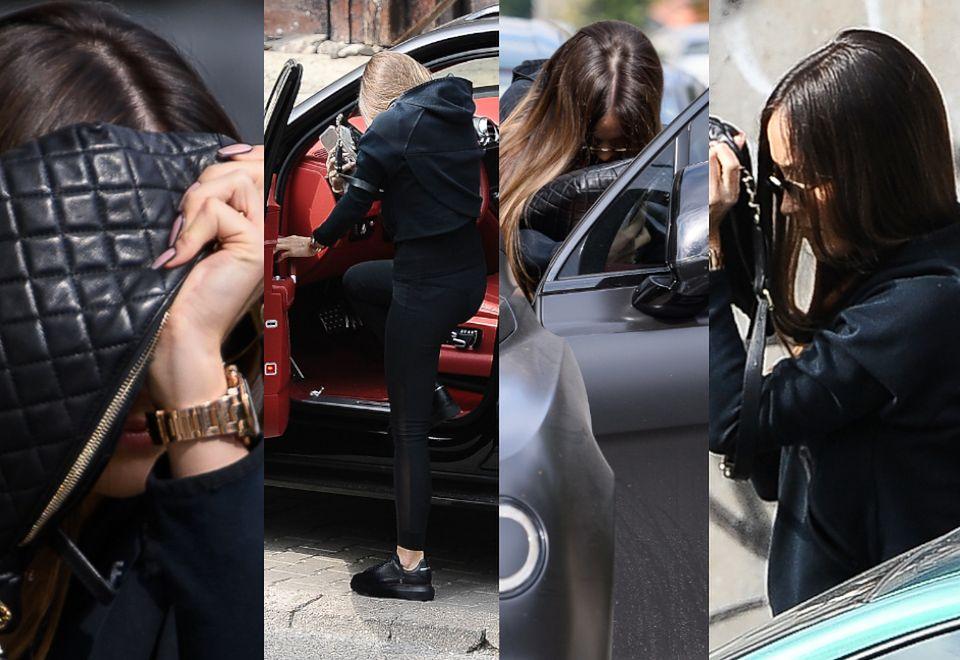 2Zasłonięta torebką Chanel Marina Łuczenko wsiada do swojego Bentleya (ZDJĘCIA)