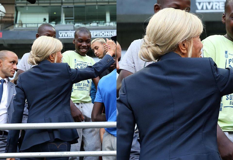 2Brigitte Macron na spotkaniu z podopiecznymi fundacji Deniker