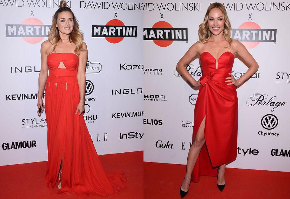 5ace561160 Czerwone sukienki na pokazie Wolińskiego  Weronika Książkiewicz czy ...