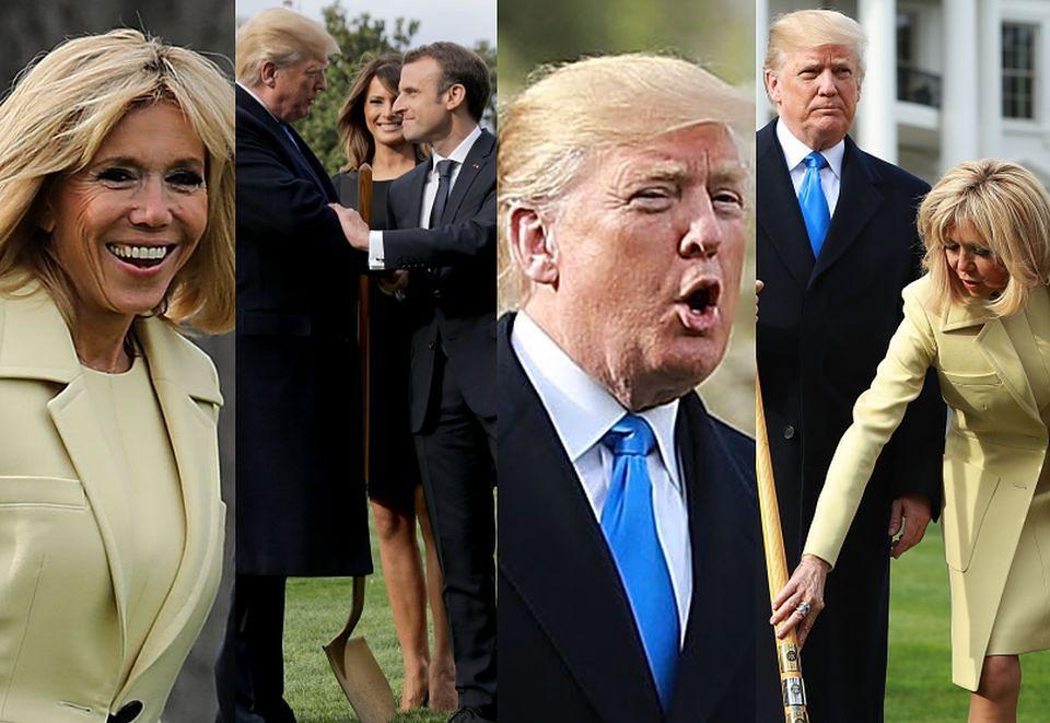 2Macronowie z wizytą u Trumpów