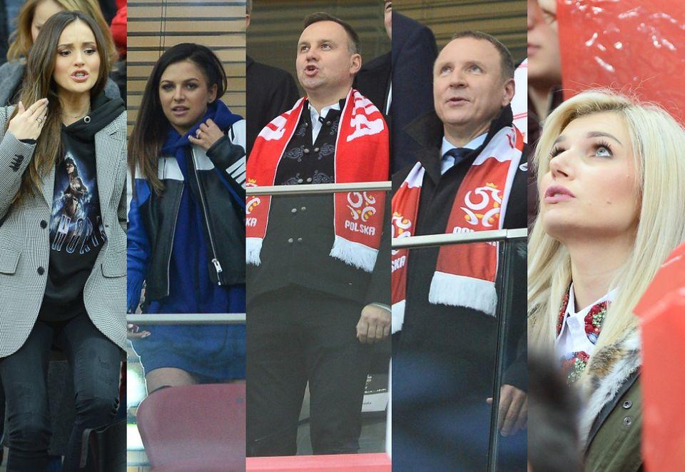2WAGs i politycy na meczu Polska-Czarnogóra