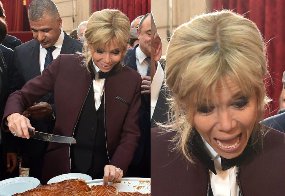 2Pierwsza Dama Francji wyglądała na bardzo zadowoloną
