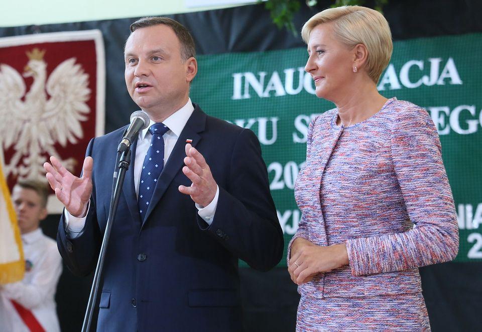 2Agata Kornhauser-Duda i Andrzej Duda na rozpoczęciu roku