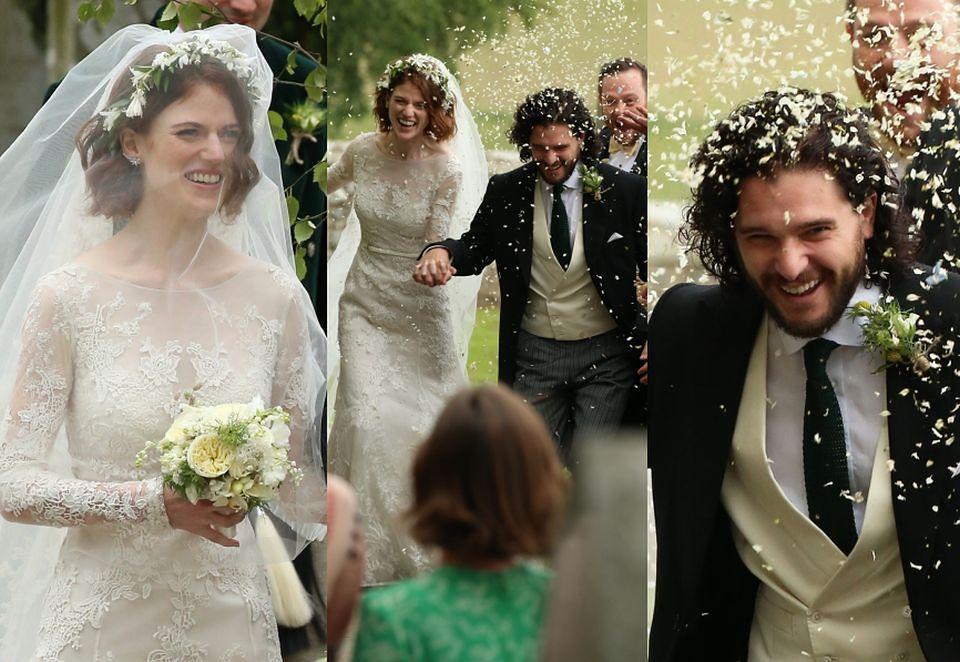 Tak Wyglądał ślub Kita Haringtona I Rose Leslie Zdjęcia Pudelek