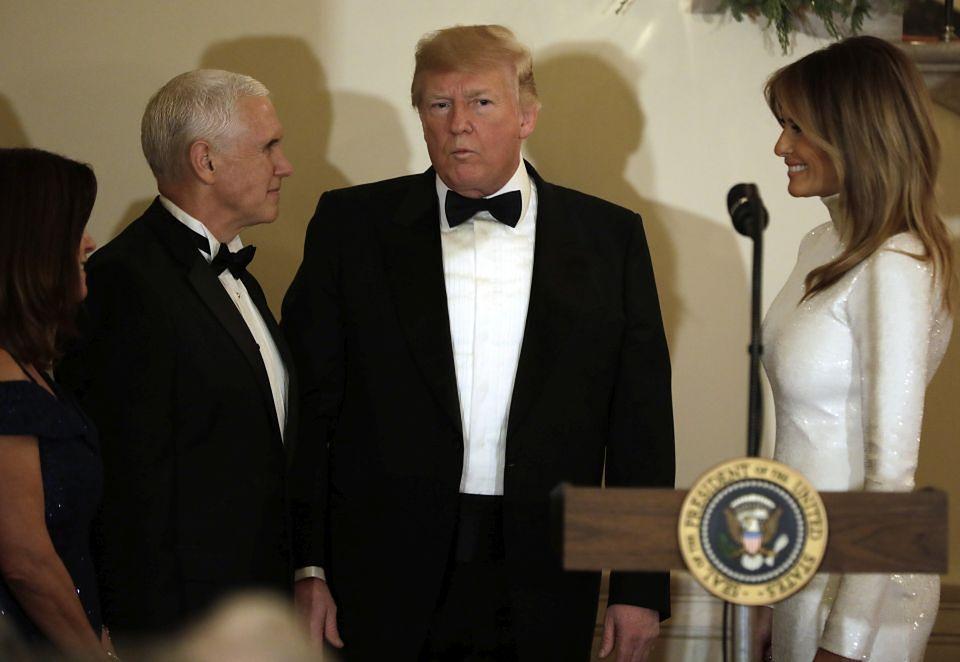 2Odmieniona Melania na balu w Białym Domu