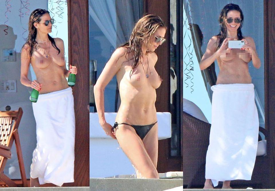 2Heidi Klum topless