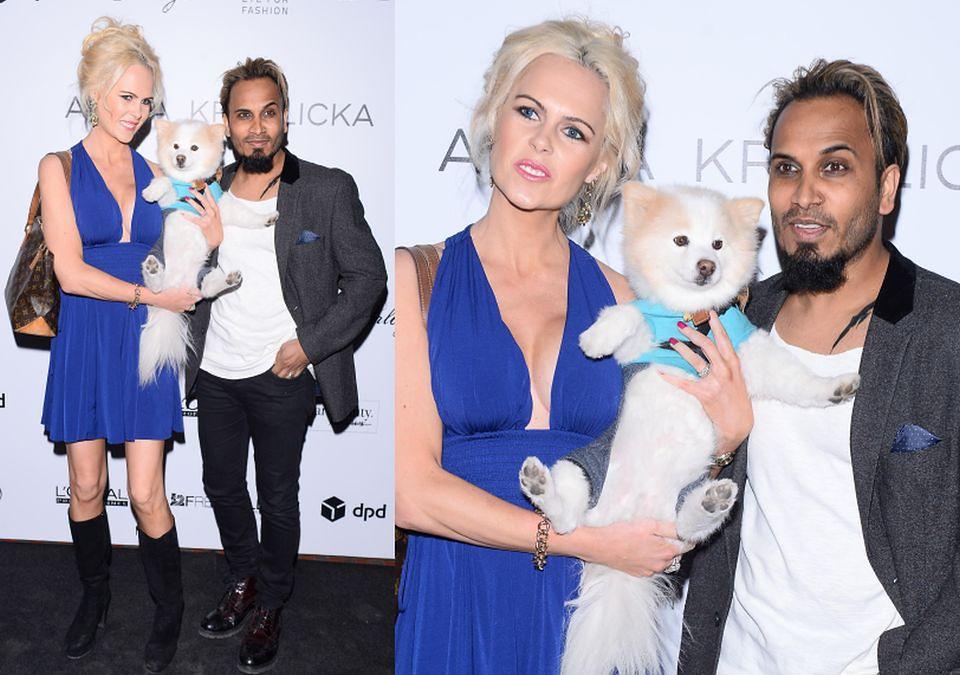 2Iwona Burnat z mężem i psem