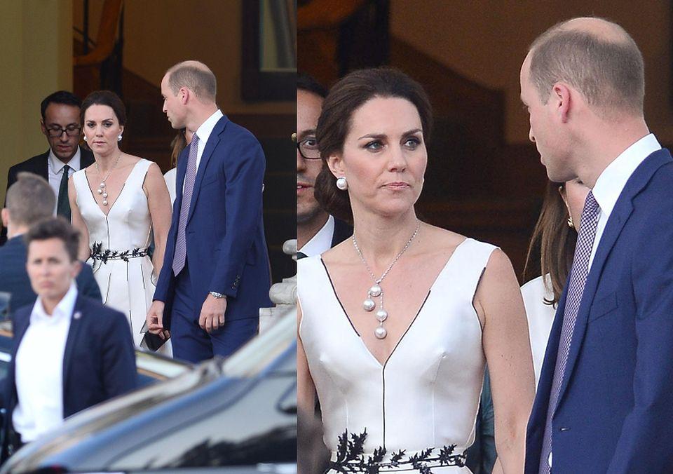 2Księżna Kate i książę William w drodze na bankiet