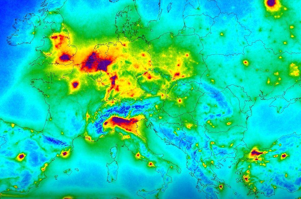 Mapa Zanieczyszczen Powietrza Europy W Polsce Nie Jest Najgorzej