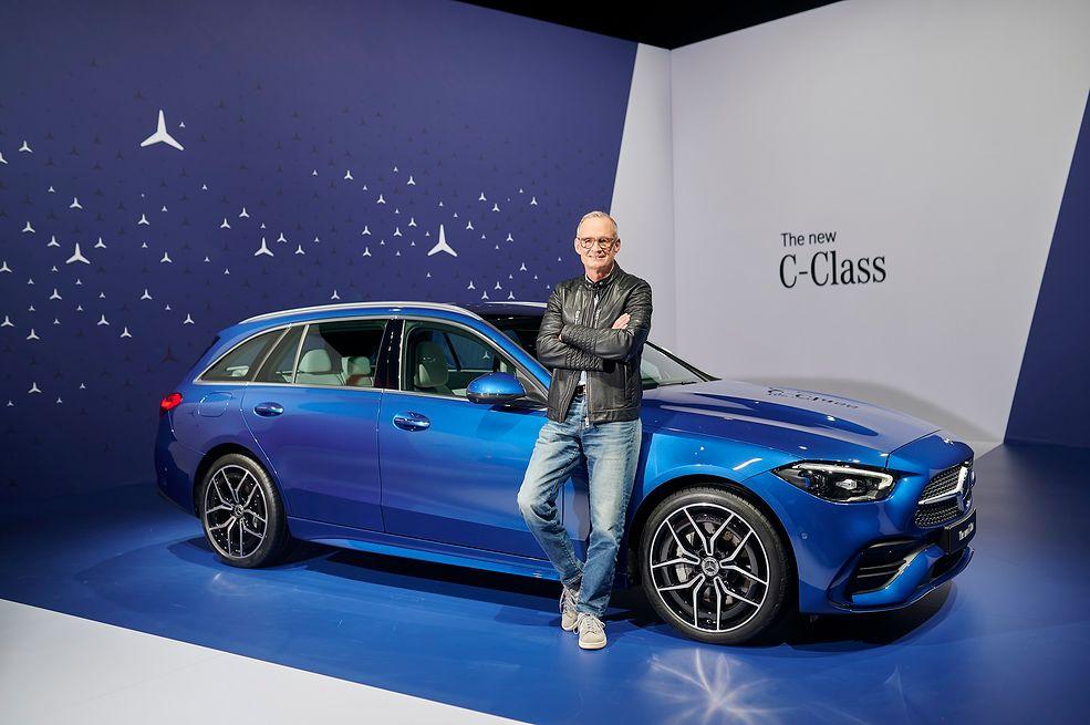 Nowy Mercedes Klasy C i główny inżynier programu jej rozwoju, Christian Früh.