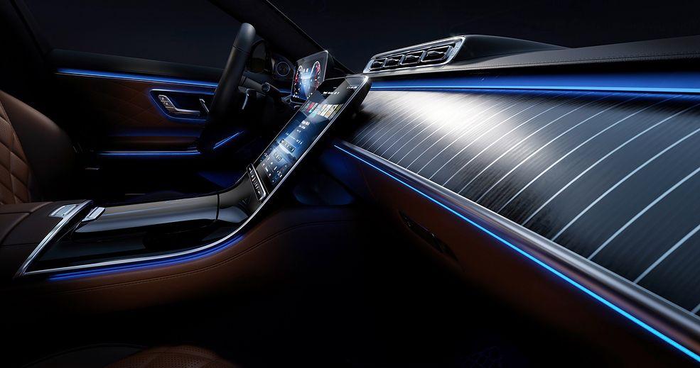 Nowe zdjęcia wnętrza Mercedesa-Benz klasy S W223 (fot. Daimler)