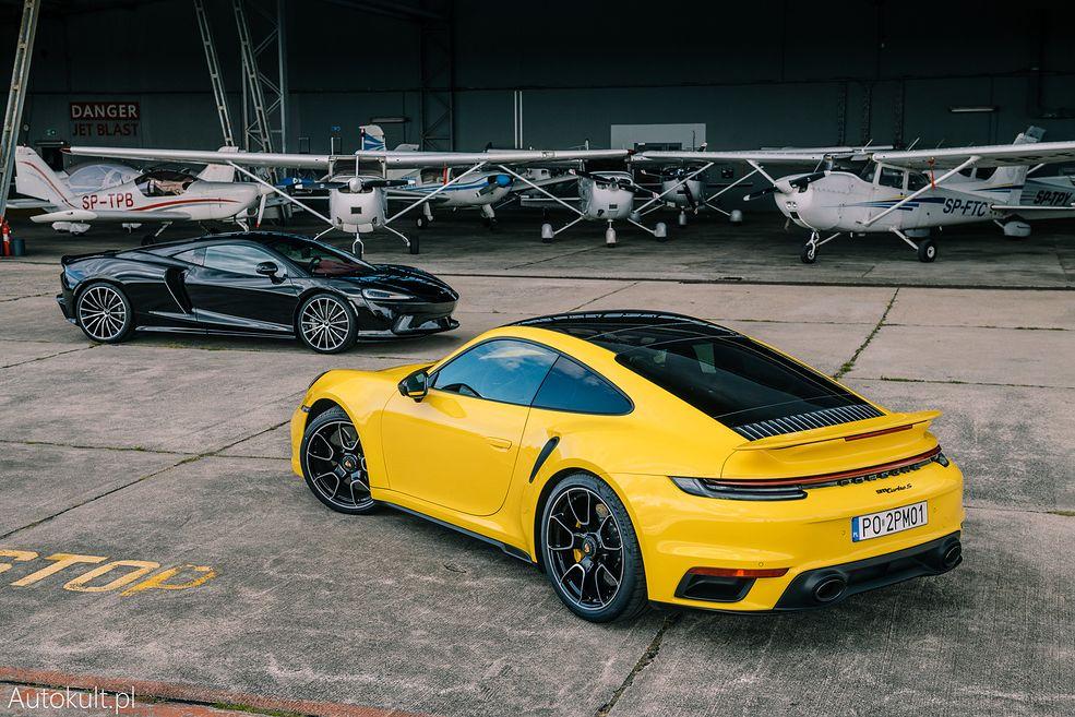 Porsche 911 Turbo S (2020) vs McLaren GT (2020) (fot. Konrad Skura)
