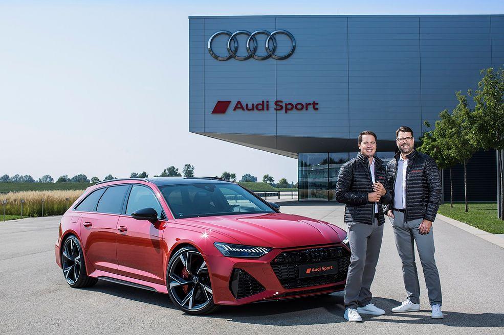 Julius Seebach (po lewej) prowadzi firmę Audi Sport wraz z Oliverem Hoffmannem (fot. Audi)