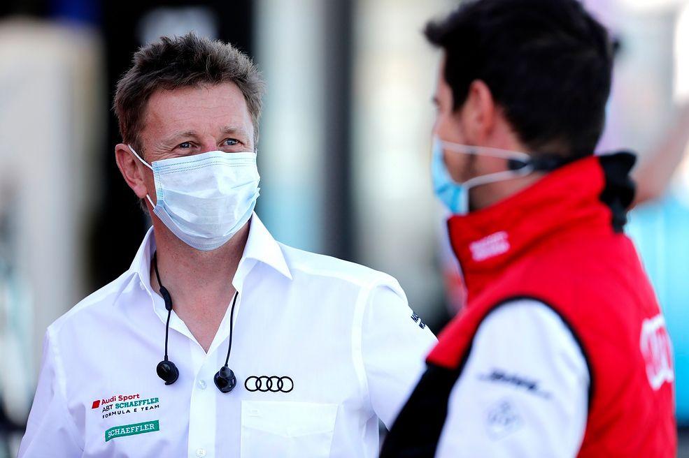 Allan McNish i Lucas di Grassi (fot. Audi Sport)