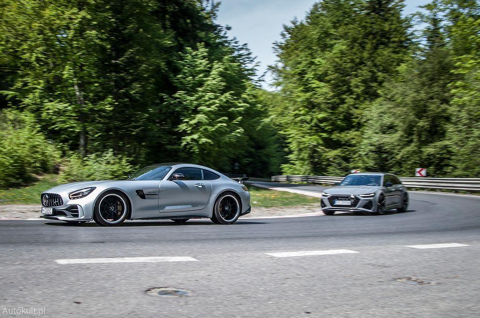 AMG GT R vs Audi RS 6 Avant (2020) (fot. Mateusz Żuchowski)