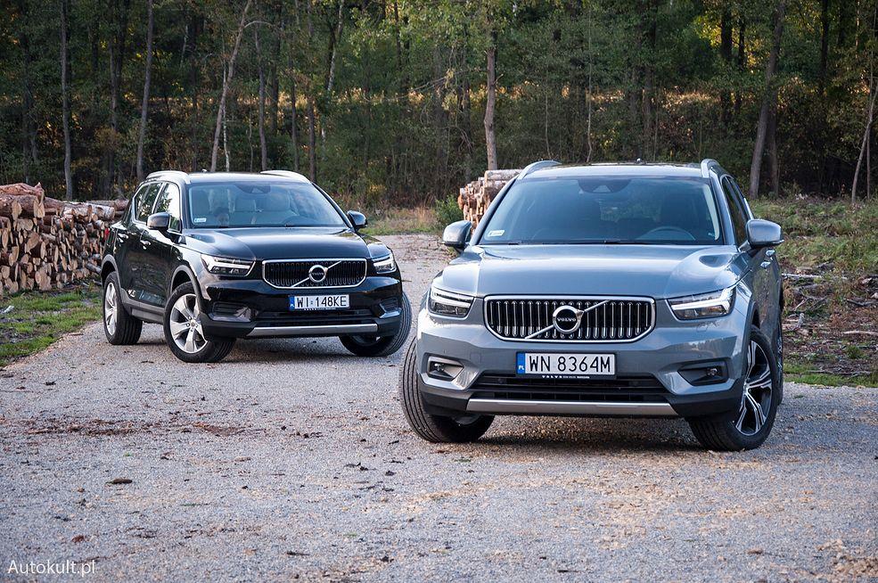 Volvo XC40 T3 (2020) vs Volvo XC40 T5 Recharge (2020) (fot. Mateusz Żuchowski)