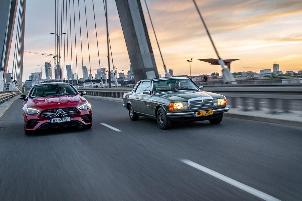 Nowy Mercedes E300 Coupe i 39-letni 280 CE (C123)