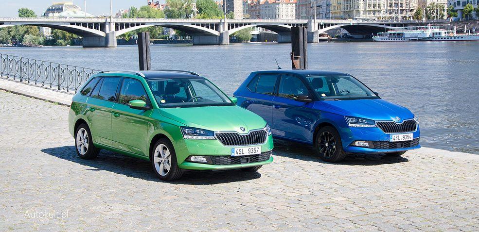 Nowa Skoda Fabia jako jeden z niewielu modeli segmentu B jest oferowany w wersji hatchback i kombi.