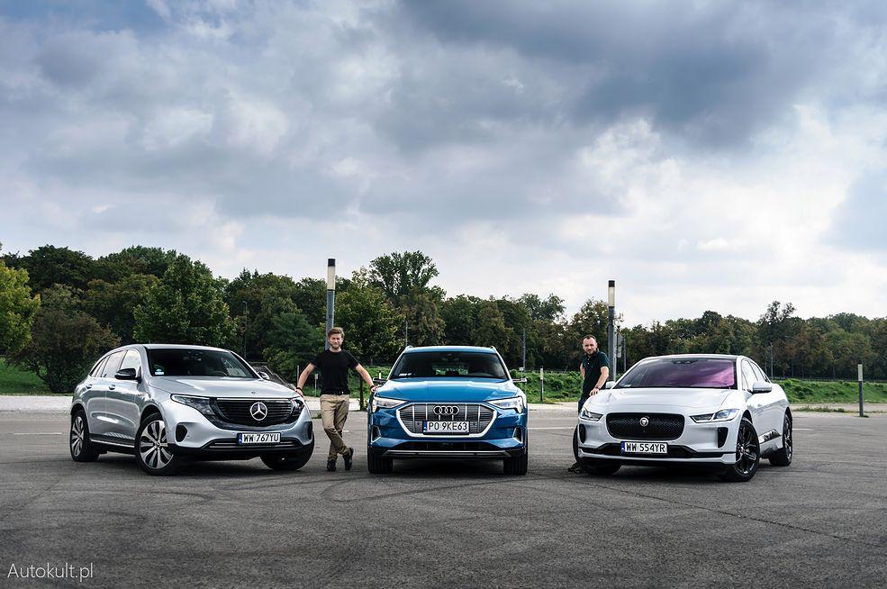 Jaguar I-Pace kontra Mercedes EQC i Audi e-tron: porównanie (fot. Mariusz Zmysłowski)
