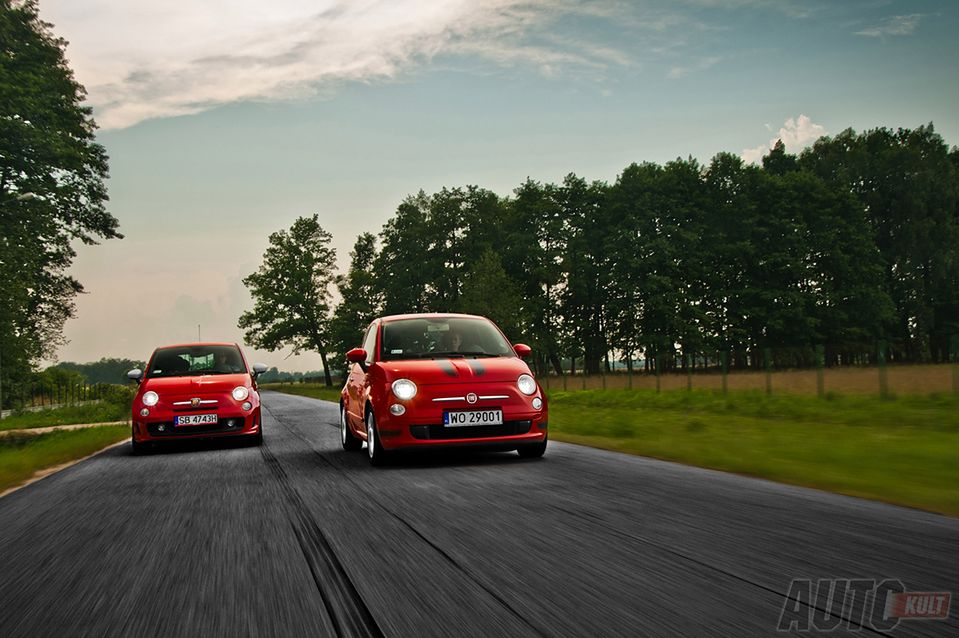 Abarth 500 esseesse & Fiat 500 1,2 Sport