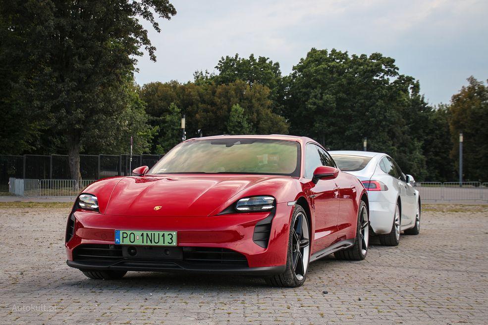 Porsche Taycan jest często przedstawiany jako konkurent Tesli Model S