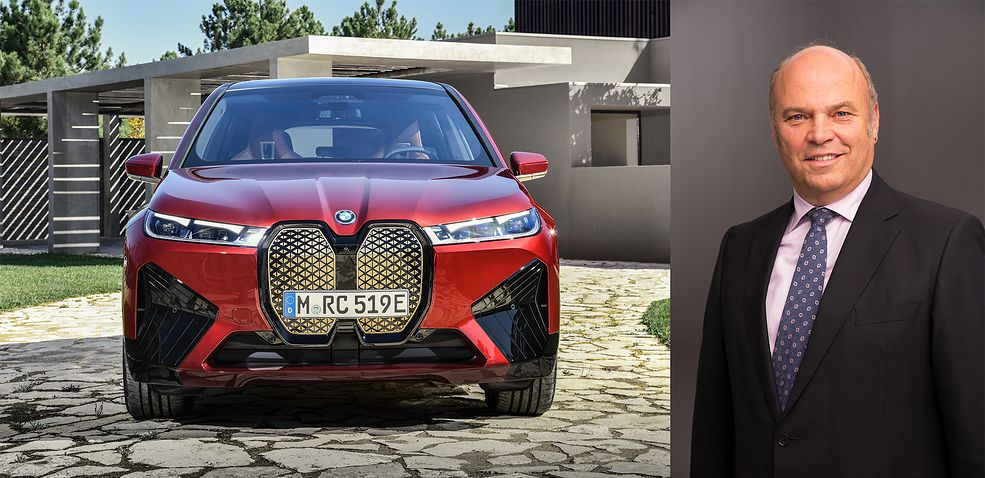 BMW iX oraz Johann Kistler (fot. BMW)