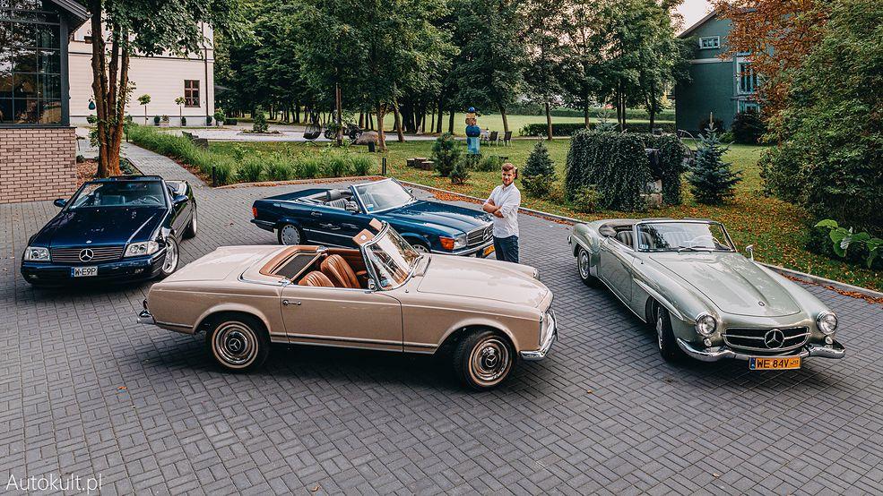 Taki widok nie zdarza się często - pierwsze 4 generacje Mercedesa SL w jednym miejscu