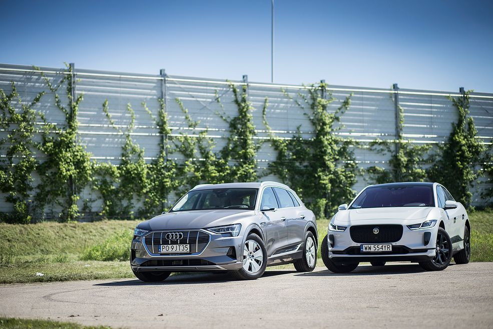 Audi e-tron vs Jaguar I-Pace (fot. Mateusz Żuchowski)