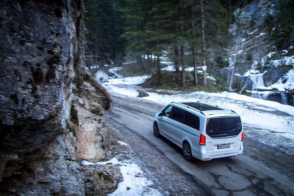 Mercedes V250d 4MATIC w Alpach (fot. Mateusz Żuchowski)