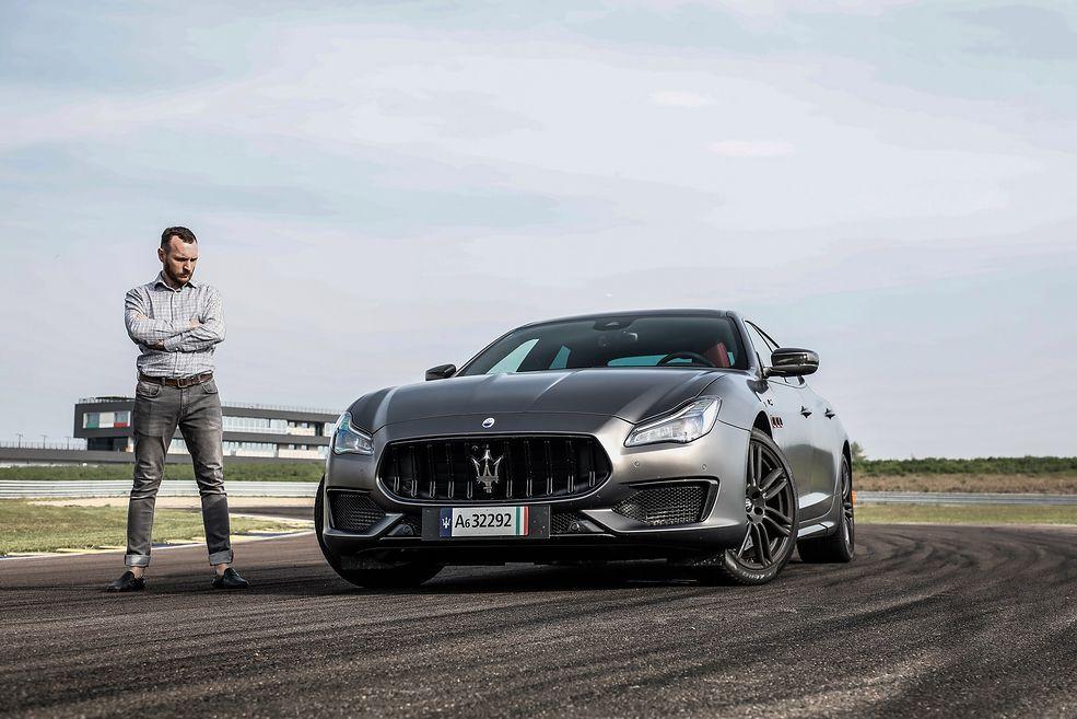 Maserati Quattroporte Trofeo z autorem tekstu (2020) (fot. Maserati)