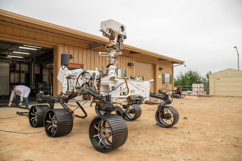 Łazik Perseverance przed wylotem na Marsa