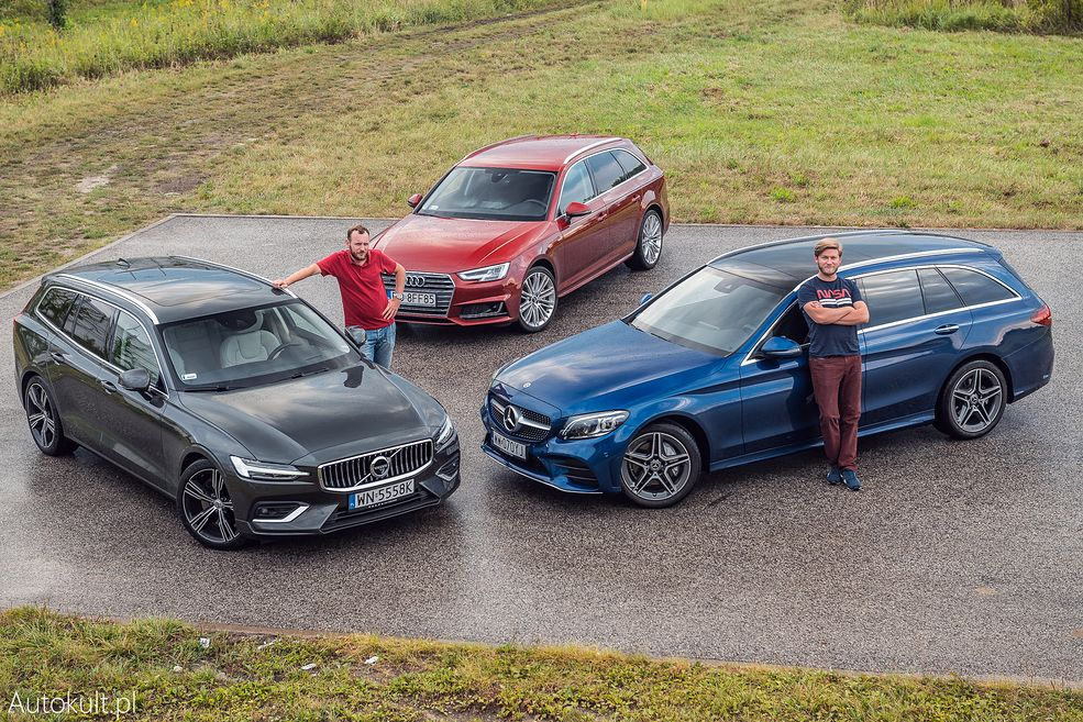Audi A4, Mercedes Klasy C i Volvo V60 (fot. Konrad Skura)
