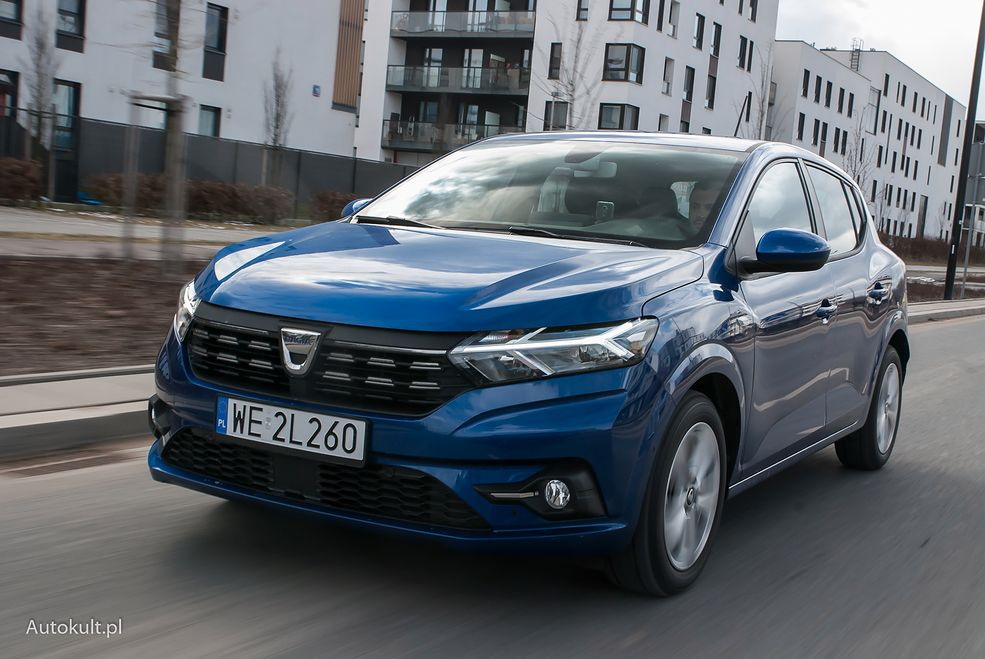 Dacia Sandero wygląda nowocześnie, ale nie rzuca się w oczy.