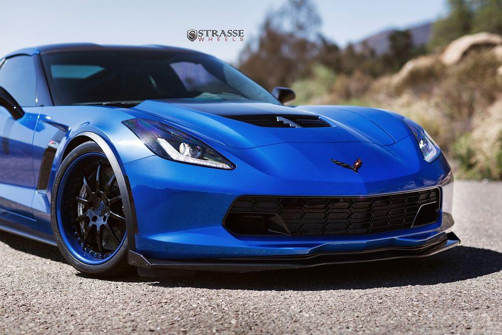 Corvette C7 Z06 Laguna Blue Agresja W Chłodnych Barwach