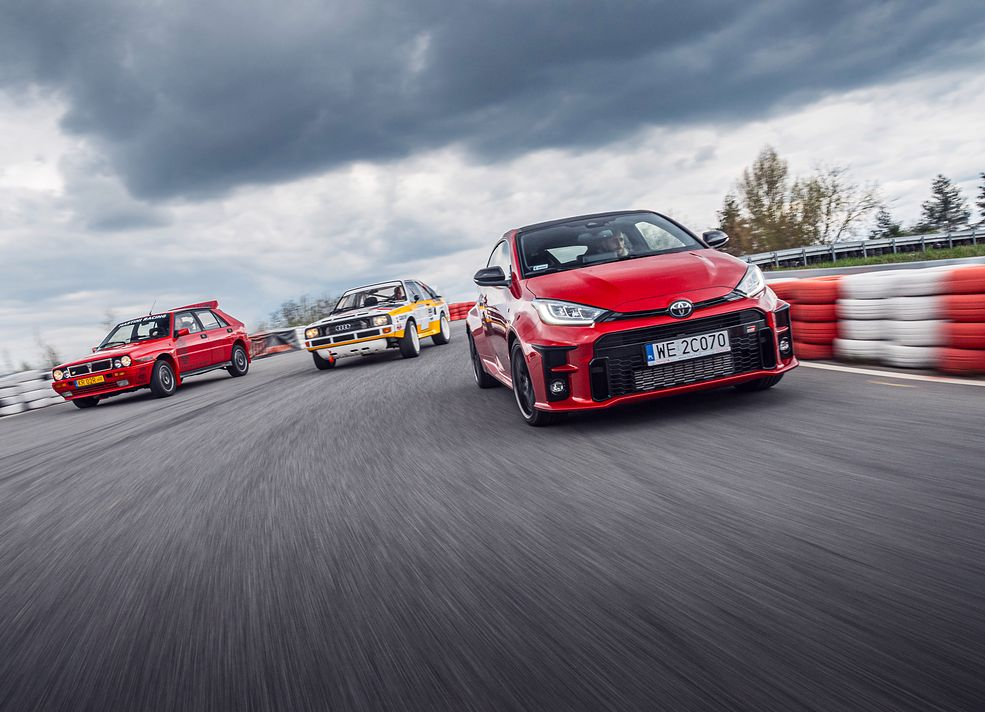 Toyota GR Yaris vs Audi quattro vs Lancia Delta HF Integrale