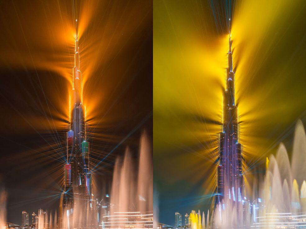 """Albert Dros jest jednym z fotografów, który miał szczęście uczestniczyć w show o nazwie """"Light Up 2018"""" w Dubaju. Władze miasta postanowiły powtórzyć przedsięwzięcie z noworocznego przedstawienia tańczących świateł. Nic dziwnego – to jest po prostu piękne."""