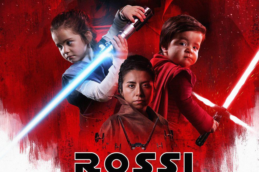 Odtworzył Plakat Z Gwiezdnych Wojen Ze Swoją Rodziną