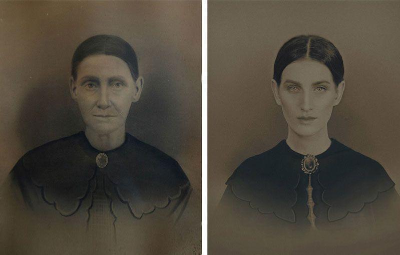 Artystka, fotograf i okazjonalnie piekarz Christine McConnell postanowiła wykonać cykl zdjęć, w którym odtworzyła zdjęcia sześciu pokoleń jej przodków w linii matki. Dotarła do prapraprababci Marty, która urodziła się w 1821 roku.