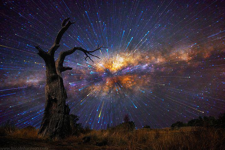 1 Co robiliście dziś w nocy? Pewnie pracowaliście nad obróbką zdjęć albo po prostu smacznie spaliście. Teraz wyobraźcie sobie, że żyjecie w Australii, gdzie niebo jest czyste, wokół pustynia - wymarzone warunki do obserwacji i fotografowania nieba. Aż żal spać! To codzienność fotografa Lincolna Harrisona specjalizującego się w portretowaniu nieba. W tym krótkim tekście postaram się odgadnąć, jakie techniczne zabiegi stosuje Harrison, żeby osiągnąć efekty widoczne na zdjęciach. © Lincoln Harrison