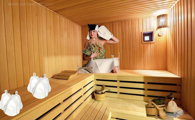 1 Polski wkład w photoshopowe katastrofy. Wielbicielkę sauny, której gdzieś wsiąkła łydka, znalazł na aukcji internetowej czytelnik PSDisasters.com.