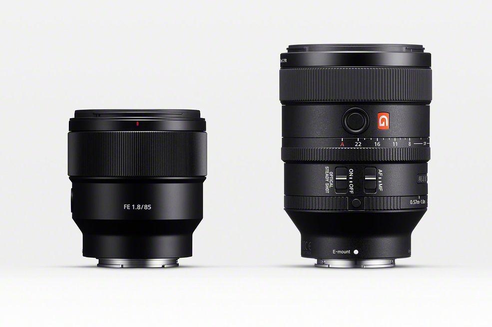 Sony 100 mm f/2.8 G Master oraz 85 mm f/1.8
