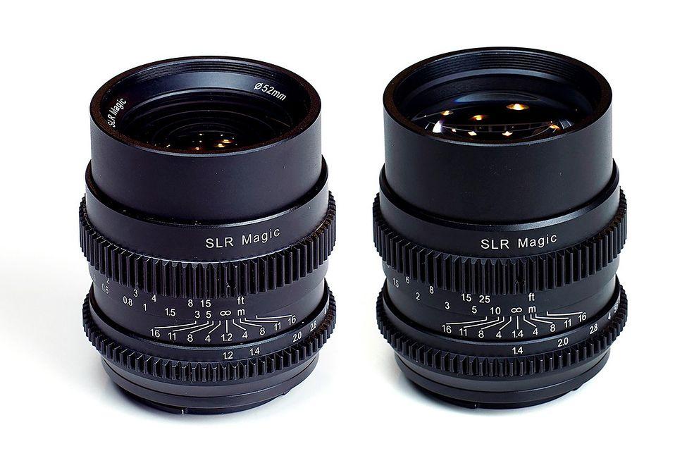 CINE 35 mm f/1.2 i 75 mm f/1.4