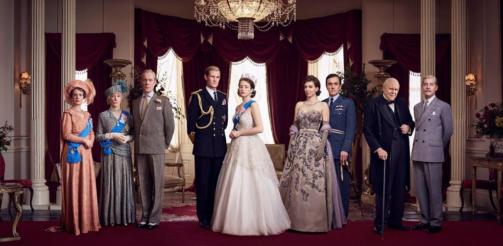 The Crown cast/ art direction And Company / photo Jason Bell/ ©Netflix