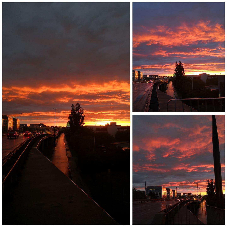 Pogoda. Niesamowity zachód słońca nad Warszawą
