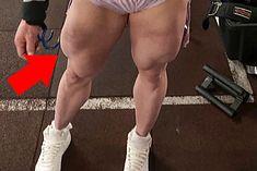 Nogi zawodniczki IFBB Pro - Anny Mroczkowskiej